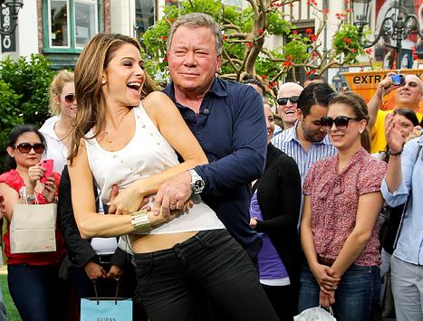 Maria Menounos, 33, Gets Kissed by William Shatner, 81