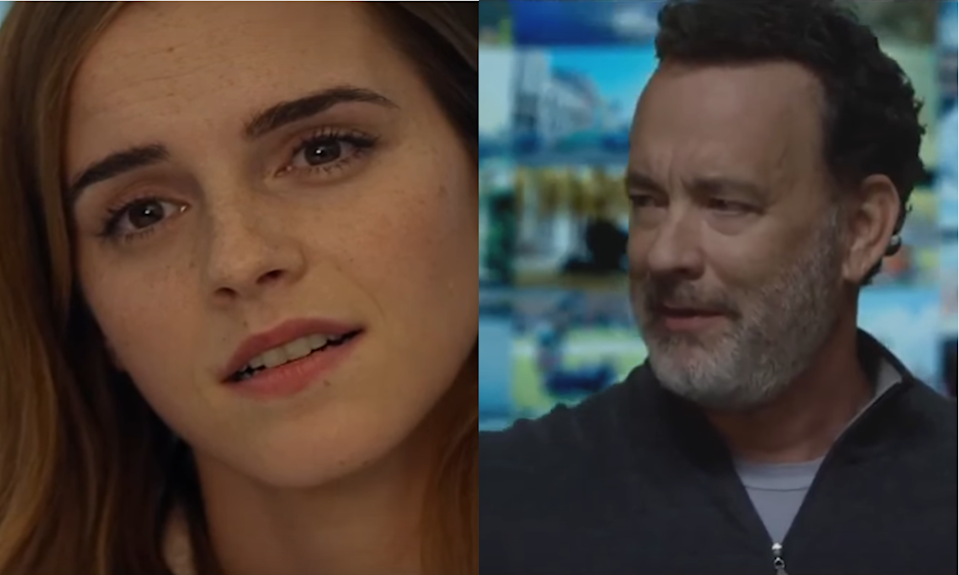 Emma Watson and Tom Hanks in the first trailer for The Circle. (Credit: EuropaCorp)