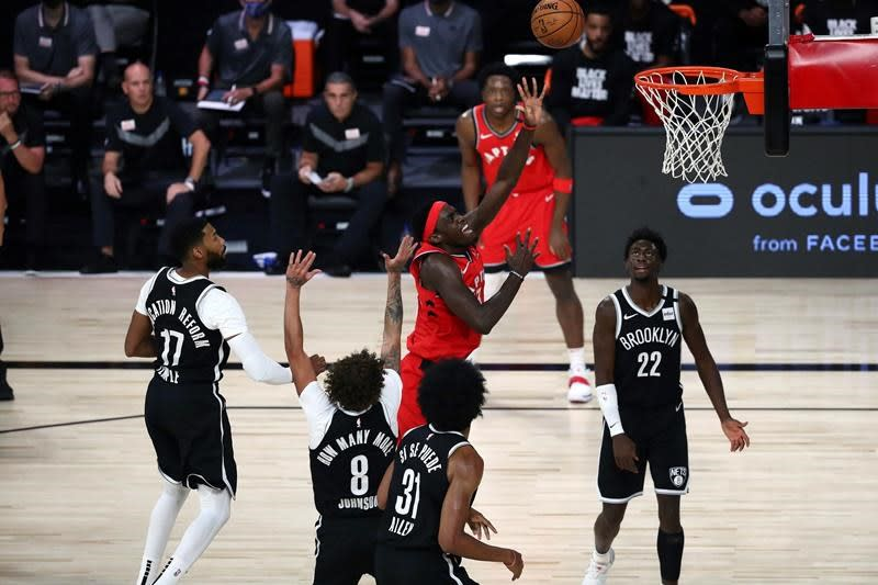 Raptors rout Brooklyn to earn first playoff sweep in franchise history