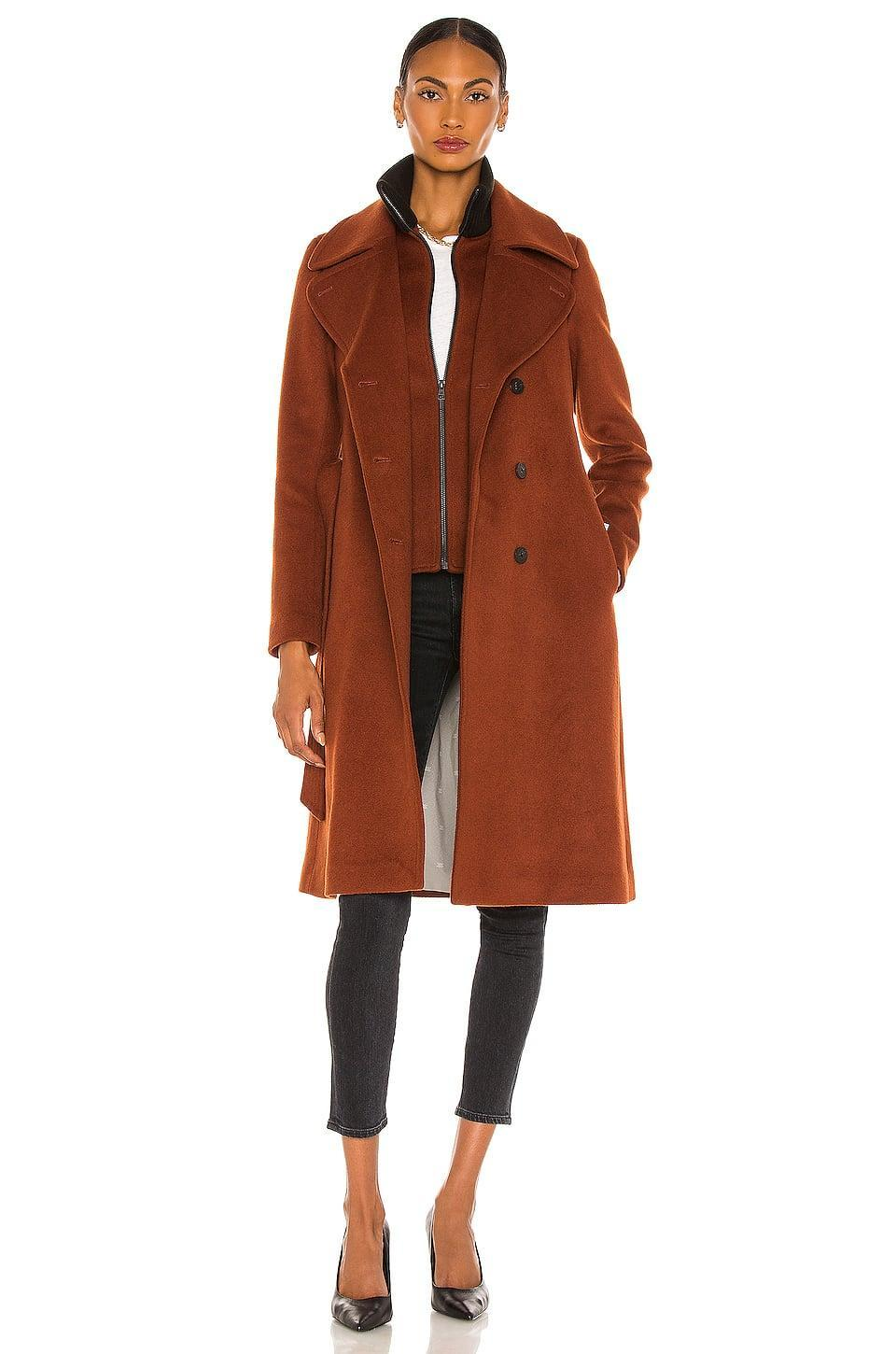 <p>If you want to look a little more pulled together, go with this <span>Soia & Kyo Damara Coat</span> ($645).</p>