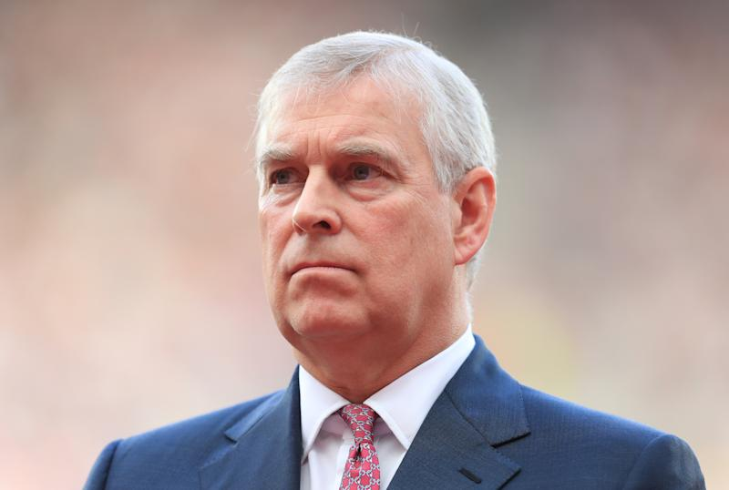 Prince Andrew makes a speech in the opening ceremony during day one of the 2017 IAAF World Championships at the London Stadium.
