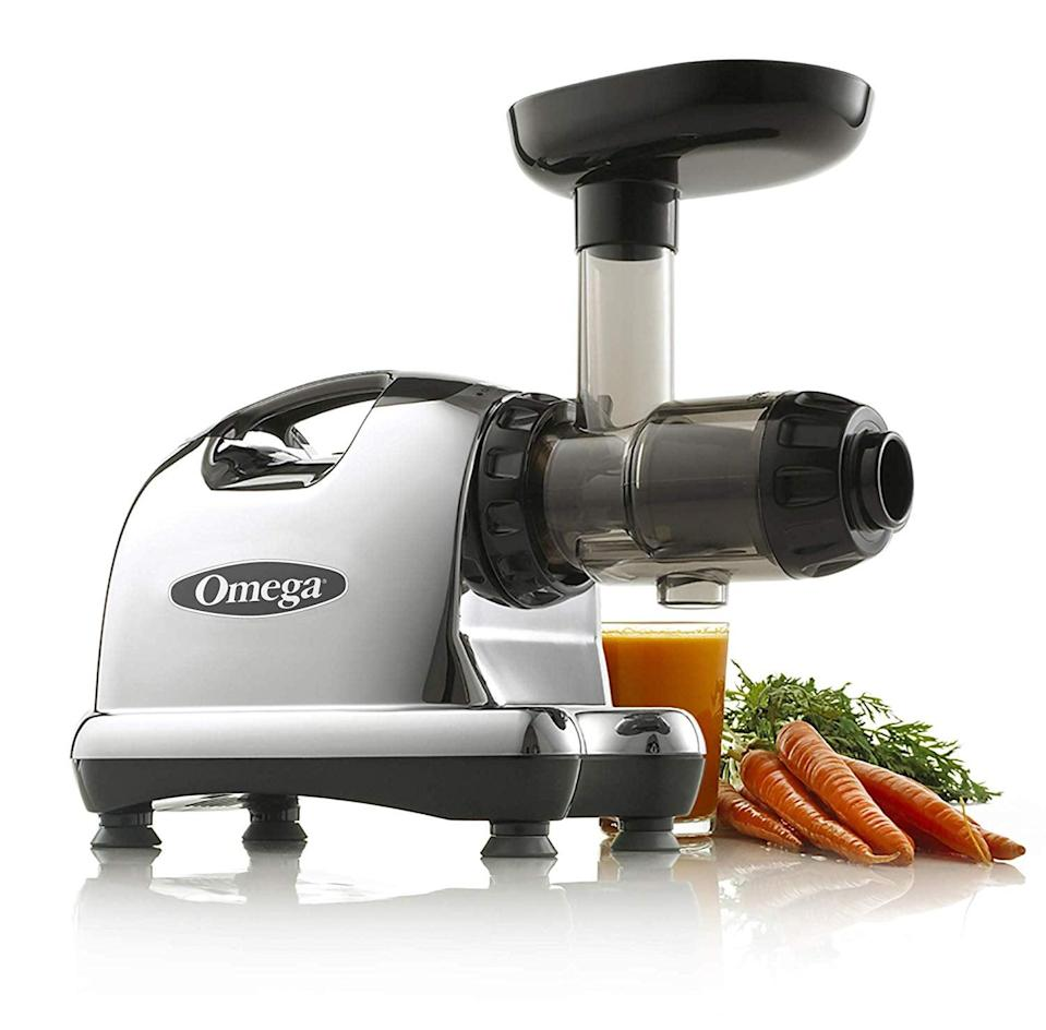 """<p>The wellness warrior will love this <span>Omega J8006 Nutrition Center Masticating Dual-Stage Juicer</span> ($288, originally $320). They can drink their <a href=""""https://www.popsugar.com/fitness/Celery-Juice-Benefits-45484853"""" class=""""link rapid-noclick-resp"""" rel=""""nofollow noopener"""" target=""""_blank"""" data-ylk=""""slk:celery juice"""">celery juice</a> every single morning!</p>"""