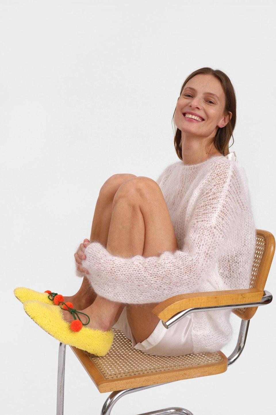 """<p>Though we first collected house slippers because we were spending so much time at home, those that can <a href=""""https://www.popsugar.com/fashion/cute-house-slippers-outfit-ideas-47954130"""" class=""""link rapid-noclick-resp"""" rel=""""nofollow noopener"""" target=""""_blank"""" data-ylk=""""slk:transition outside"""">transition outside</a> will stay in heavy rotation. The whole idea of a comfy shoe to quickly run an errand in isn't far-fetched any time of the year, so expect these to stick around. They'll be reinvented in colors and luxe fabrics like velvet and shearling, but they all have substantial soles.</p> <p><span>Sleeper Lulu Shearling Slippers</span> ($290)</p>"""