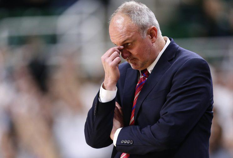 With a 17-14, 7-11 record, the Buckeyes are in the midst of their worst season yet under 13-year head coach Thad Matta. (Getty)