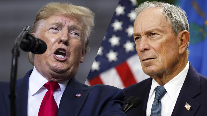 President Trump and Michael Bloomberg. (Photo: Evan Vicci/AP, John Locher/AP)