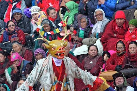 A festival at Spituk monastery