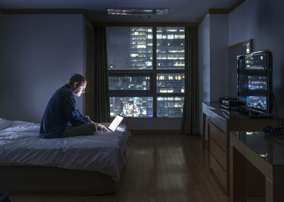 <p>By now, it's become common advice to shut off those screens—TV, smartphone, and computer—for an hour before bed. That's because the blue light emanating from those glowing rectangles interferes with melatonin production, making it more difficult to get quality sleep, says Breus.</p>
