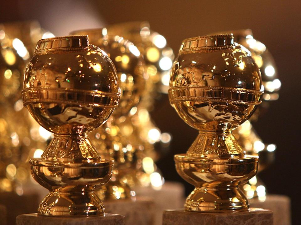 Golden Globe statuettes on display (Getty Images)