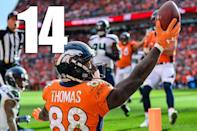 <p>Case Keenum did some good things in his first Broncos game. He obviously has a good connection with Emmanuel Sanders. But the three interceptions were troubling. (Demariyus Thomas) </p>