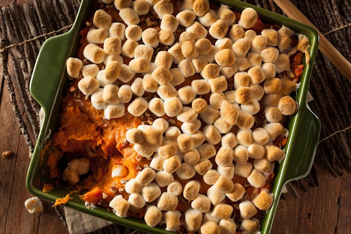 Marshmallows became popular on sweet potatoes in the early 1900s (Photo: Getty)