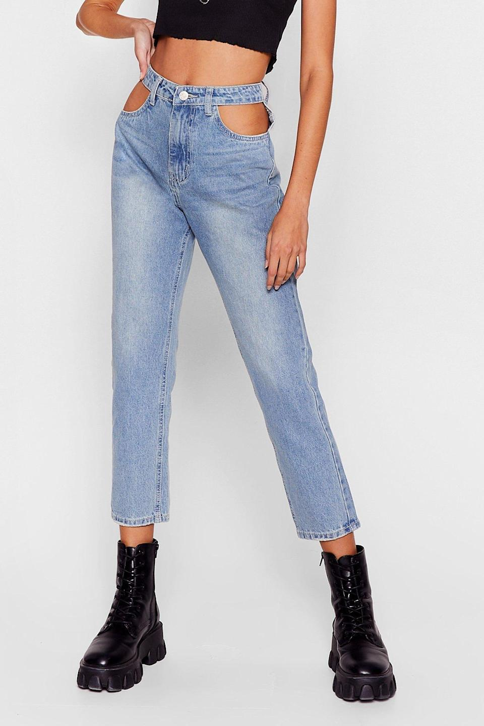 <p><span>Cut-Out of This World High-Waisted Mom Jeans</span> ($24, originally $62)</p>