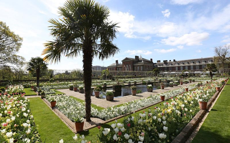 White Garden at Kensington Palace  - Credit: PA