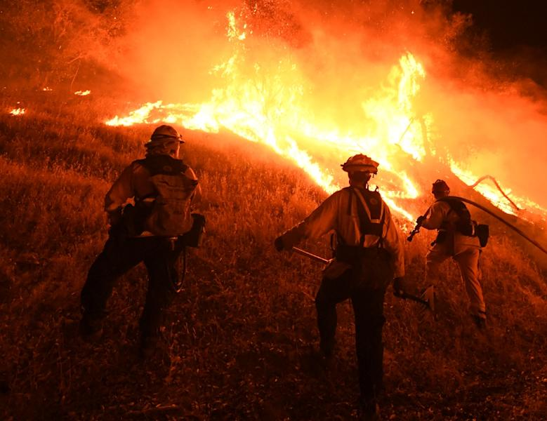 California governor asks Trump to aid with fires