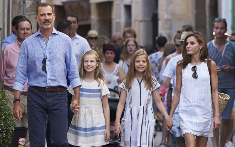 King Felipe VI of Spain, Queen Letizia, and their daughters - WireImage