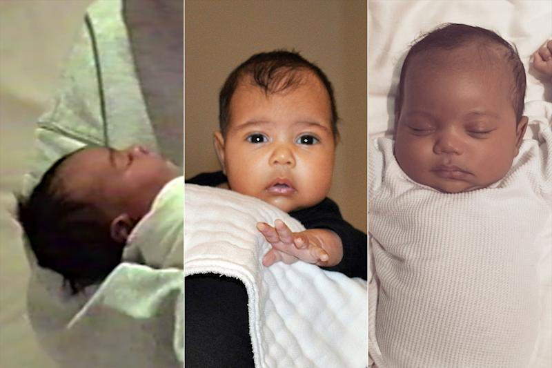 Comparing the First Photos of Chicago, Saint and North West