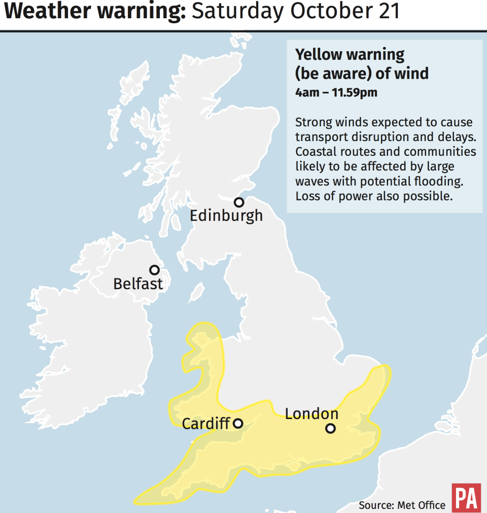 Weather warnings are in place this weekend