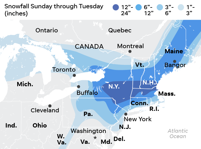 SOURCE AccuWeather, as of Dec. 2