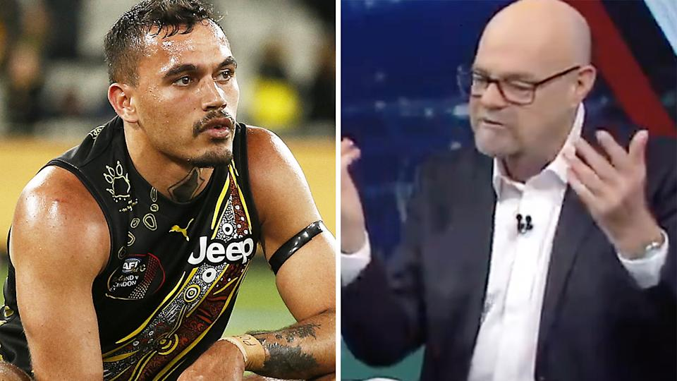 Sydney Stack's (left) treatment by WA Police has been labelled a 'national disgrace' by Mark Robinson, right.