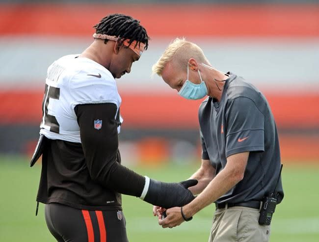 Browns LB Wilson doesn't need surgery, expected back in 2020