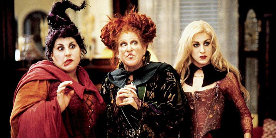 <p>This is the Halloween movie classic about everyone's favorite witchy trio — these <em>Hocus Pocus </em>costumes of the Sanderson sisters are perfect for any group of friends.</p>