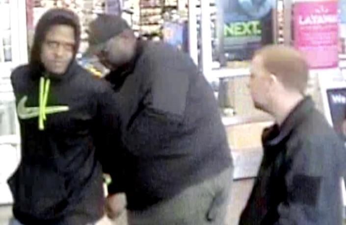 Ariane McCree was placed in handcuffs after returning to the Walmart in Chester, S.C., for allegedly stealing a $45 lock in November 2019, police said. (obtained by NBC News via South Carolina State Law Enforcement Division)