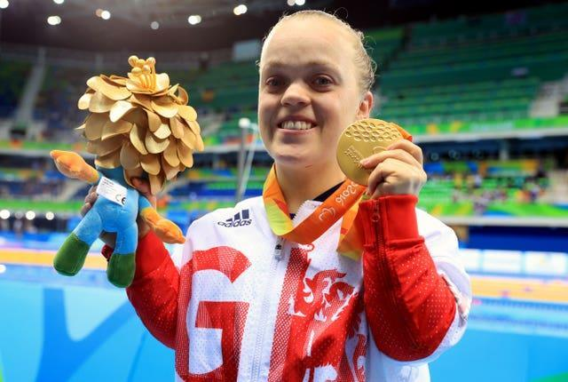 Ellie Simmonds with her 200m individual medley gold in Rio