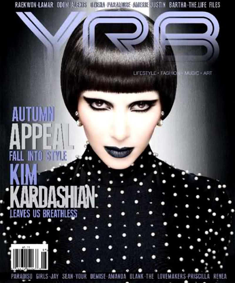 Whoa! Remember that time Kim Kardashian rocked a bowl cut? (Photo: YRB Magazine)
