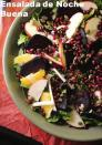 """<div class=""""caption-credit""""> Photo by: Vianney Rodriguez</div><b>Christmas Eve Salad</b> <br> This Noche Buena (literally meaning """"good night"""") salad is traditionaly served on Christmas Eve and features roasted beets, oranges, jicama, apples, pomegranate and pepitas, creating a beautiful and delicious dish brimming with the colors of Christmas. <i>- Vianney Rodriguez, Sweet Life</i> <br> <i><a href=""""http://www.babble.com/best-recipes/nine-traditional-recipes-for-a-latin-christmas/#christmas-eve-salad"""" rel=""""nofollow noopener"""" target=""""_blank"""" data-ylk=""""slk:Get the recipe"""" class=""""link rapid-noclick-resp"""">Get the recipe</a></i>"""