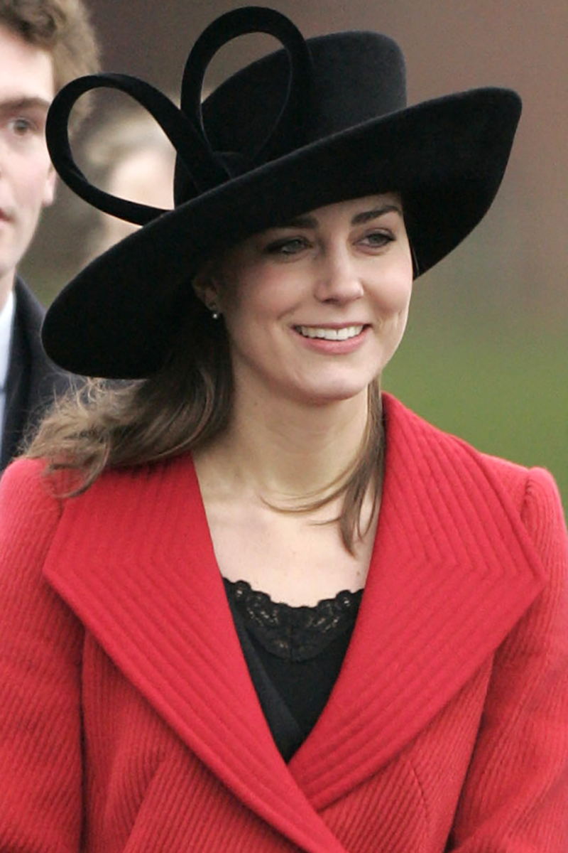 <p>Kate riffed off the look at the Sovereign'S Parade in 2006, wearing a lace trim undergarment and modernised bow on her hat.</p>
