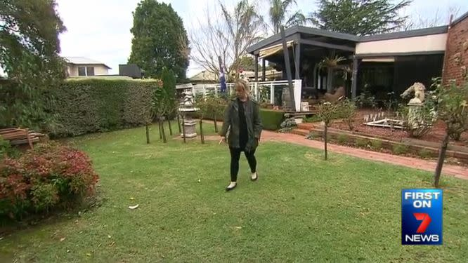 Mrs Sinden's daughter Melinda said a crow carried the puppy out of the garden. Photo: 7 News
