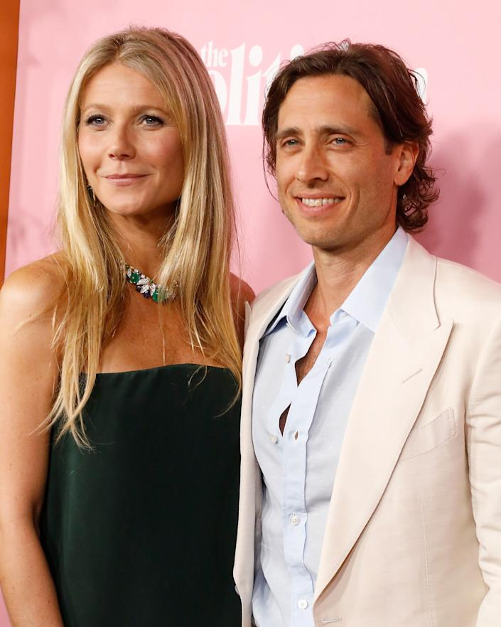 """Paltrow and her second husband, Brad Falchuk, attend the premiere of Netflix's """"The Politician"""" at DGA Theater on Sep. 26, 2019, in New York City. (Photo: Taylor Hill via Getty Images)"""
