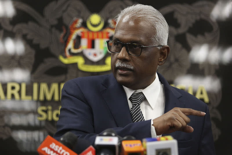 Klang MP Charles Santiago says Datuk Seri Najib Razak has no standing to criticise the government's efforts to address the plight of some stateless Indians. — Picture by Yusof Mat Isa