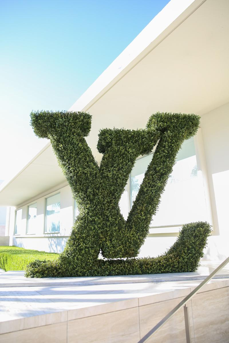 Outside the Louis Vuitton Objets Nomades exhibition in partnership with Frieze Los Angeles.
