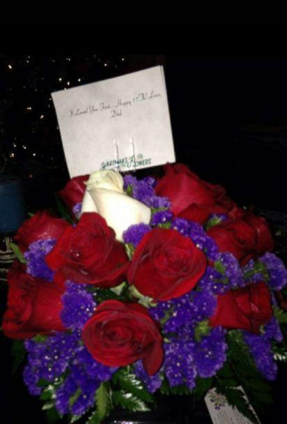 PHOTO: The flowers Bailey Sellers received from her deceased father Michael on her 17th birthday on Nov. 26, 2013.  (Bailey Sellers)