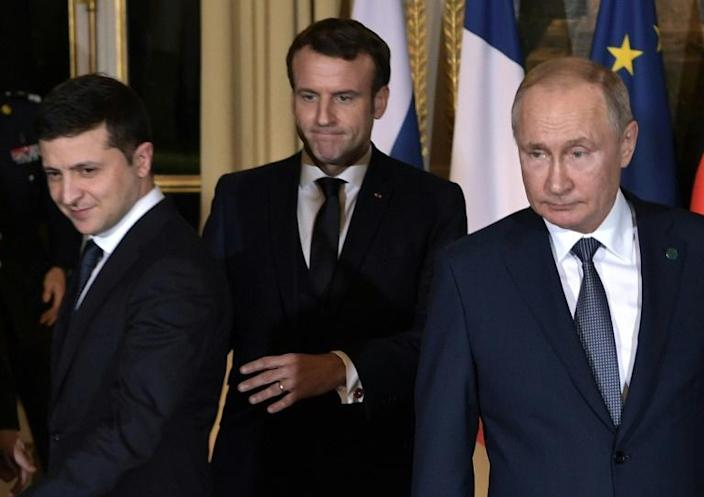 The swap came after a meeting between the Russian and Ukrainian leaders in Paris this month (AFP Photo/Alexey NIKOLSKY)
