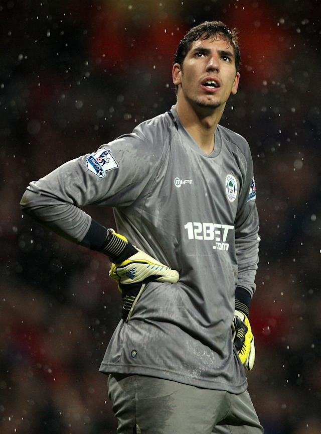 File photo dated 14/05/2013 of Wigan Athletic goalkeeper's Joel Robles.