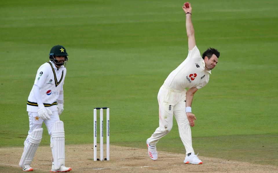 James Anderson bowling -england vs pakistan third test day four live score updates latest - GETTY