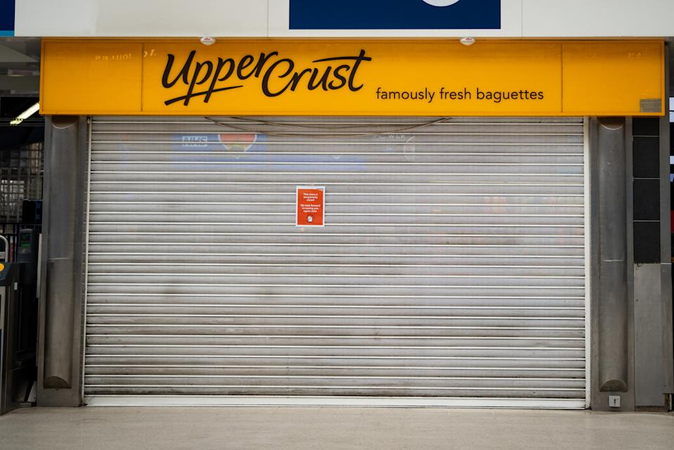 A Upper Crust in Waterloo Station, Londo. Photo: Aaron Chown/PA via Getty Images