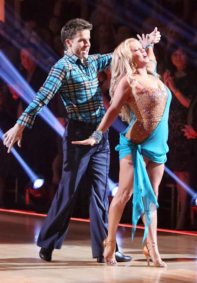 "Louis Van Amstel and Sabrina Bryan perform on ""Dancing With the Stars: All-Stars."""