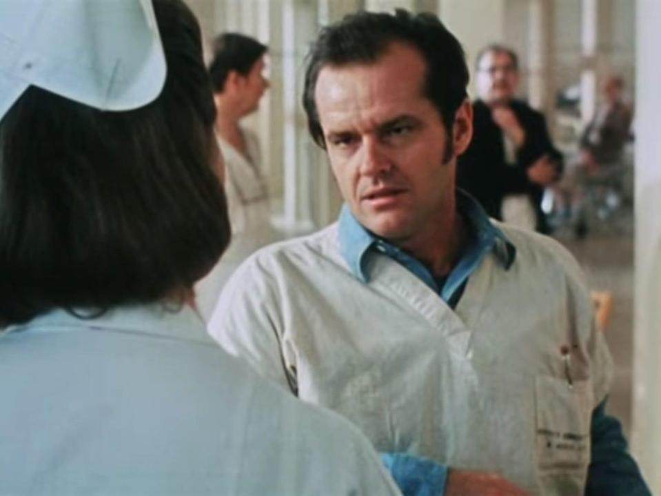 One Flew Over the Cuckoo's Nest Jack Nicholson