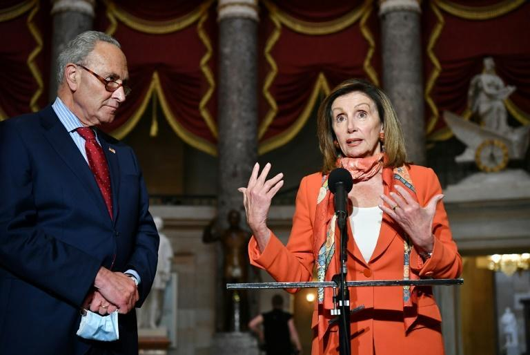 US House Speaker Nancy Pelosi called President Donald Trump's actions 'meager' and US Senate Minority Leader Chuck Schumer said he is trying to destroy the Post Office possibly to slow voting by mail