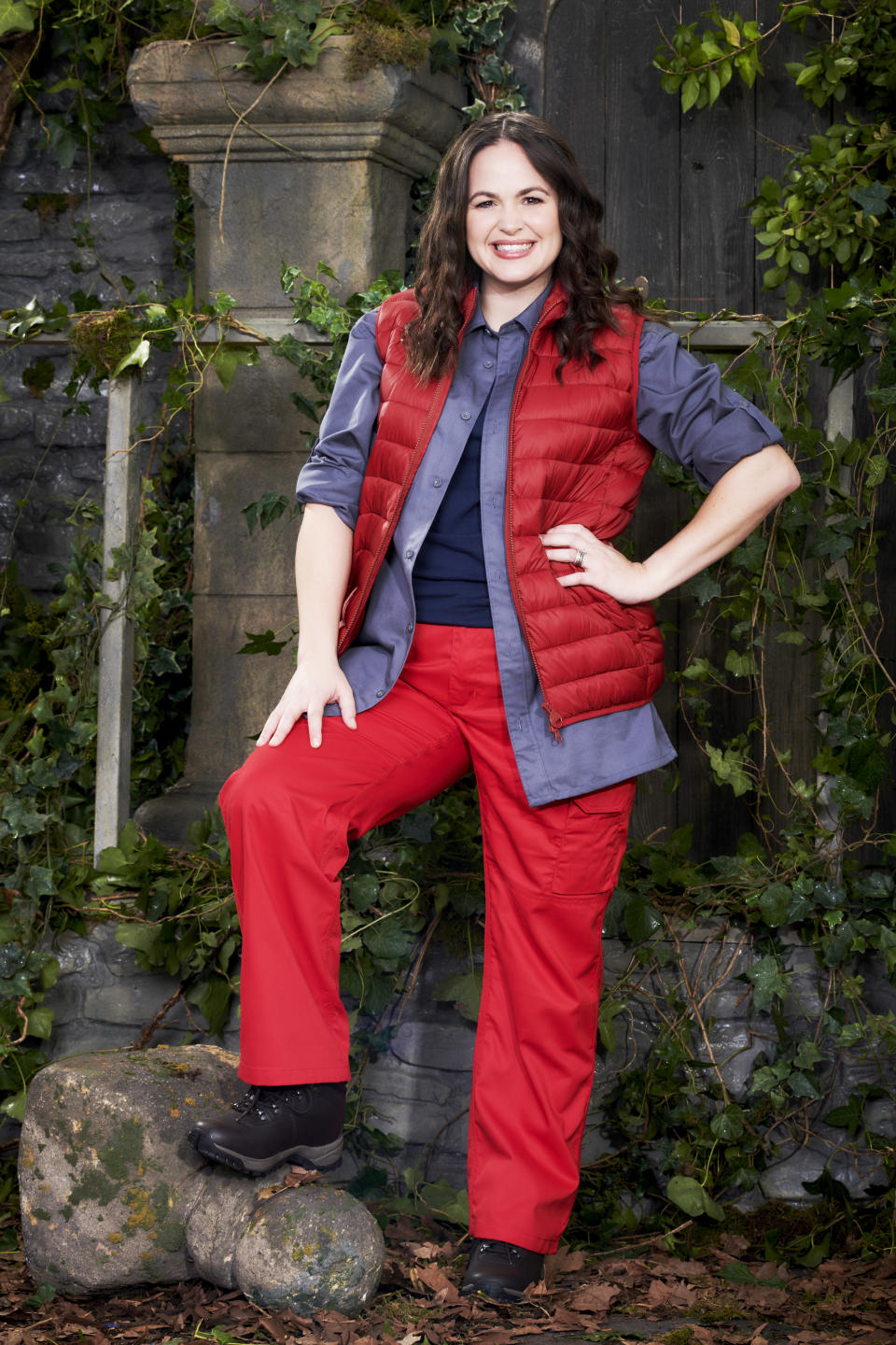 Giovanna Fletcher in a promotional still for I'm A Celebrity... Get Me Out Of Here! (ITV)
