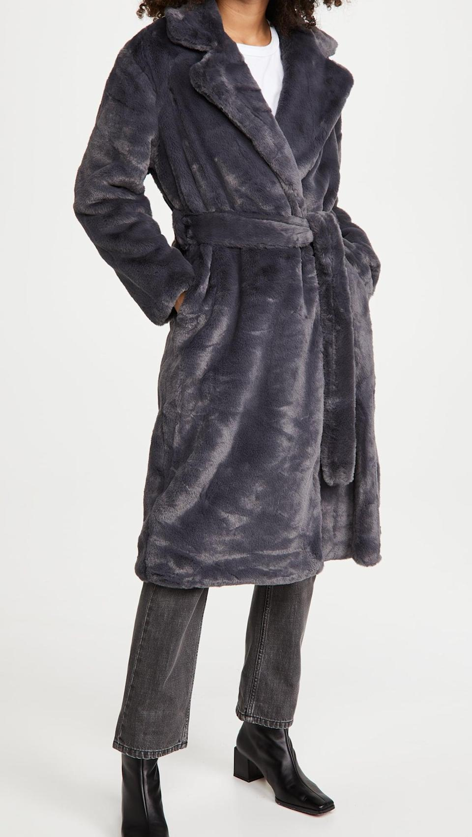 <p>This <span>Apparis Mona Wrap Coat</span> ($300, plus use code FALL20) looks like it feels amazing.</p>
