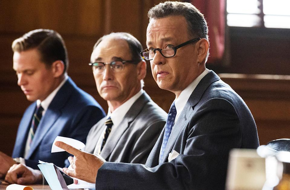 """<p>Any movie that combines Tom Hanks's star power with Steven Spielberg's directing is destined to be a success. This Cold War–era movie tells the true story of American lawyer James B. Donovan (Hanks), who defended Soviet KGB spy Rudolf Abel (Mark Rylance) in court. Because of this, he ends up working with the CIA to exchange the spy for a captured American pilot. </p> <p><a href=""""https://www.amazon.com/Bridge-Spies-Theatrical-Tom-Hanks/dp/B01B5H1RW6"""" rel=""""nofollow noopener"""" target=""""_blank"""" data-ylk=""""slk:Available to rent on Amazon Prime Video"""" class=""""link rapid-noclick-resp""""><em>Available to rent on Amazon Prime Video</em></a></p>"""
