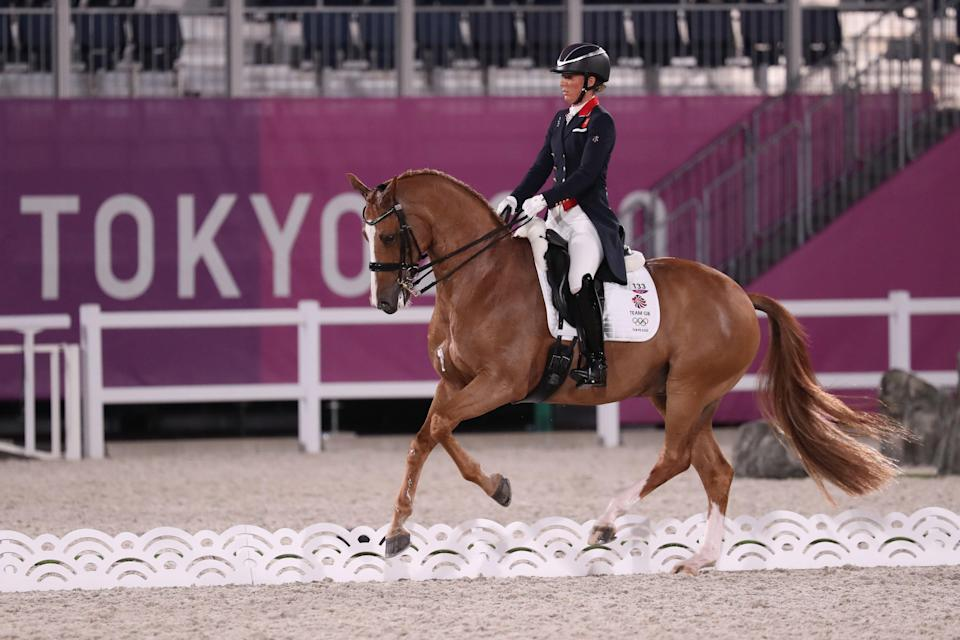 Charlotte Dujardin claimed a fifth Olympic medal (Friso Gentsch/PA) (PA Media)