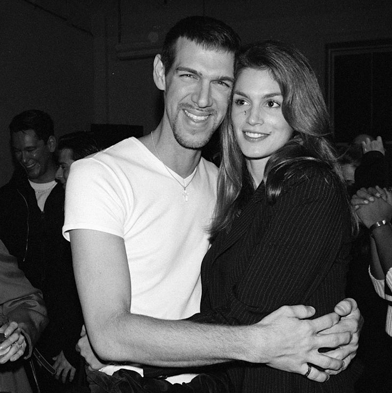 Cindy Crawford and Kevyn Aucoin, 1994. (Photo: The LIFE Picture Collection/Getty Images)