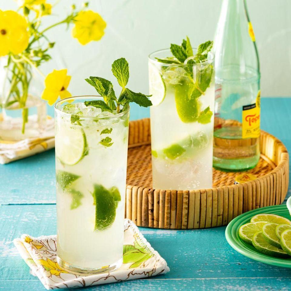 """<p>Fresh mint is the star of this rum-based beverage. Crush the herb with a cocktail muddler or the back of a wooden spoon to release its oils, then shake it up with sugar, lime, and lots of ice.</p><p><a href=""""https://www.thepioneerwoman.com/food-cooking/recipes/a35824349/mojito-recipe/"""" rel=""""nofollow noopener"""" target=""""_blank"""" data-ylk=""""slk:Get the recipe."""" class=""""link rapid-noclick-resp""""><strong>Get the recipe. </strong></a></p><p><a class=""""link rapid-noclick-resp"""" href=""""https://go.redirectingat.com?id=74968X1596630&url=https%3A%2F%2Fwww.walmart.com%2Fsearch%2F%3Fquery%3Dcocktail%2Bmuddler&sref=https%3A%2F%2Fwww.thepioneerwoman.com%2Ffood-cooking%2Fmeals-menus%2Fg36432840%2Ffourth-of-july-drinks%2F"""" rel=""""nofollow noopener"""" target=""""_blank"""" data-ylk=""""slk:SHOP COCKTAIL MUDDLERS"""">SHOP COCKTAIL MUDDLERS</a></p>"""