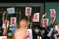 There has been a surge in popular dissent despite the Myanmar military imposing a nationwide blockade of the internet