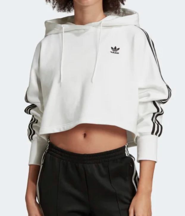 adidas Women's Originals Cropped Hoodie in White