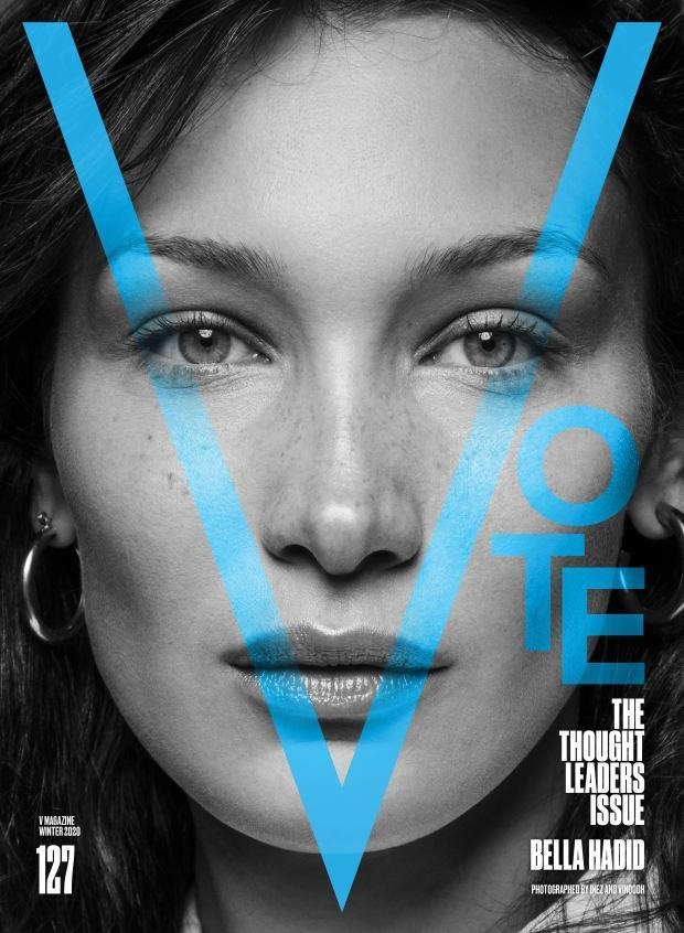 <p>Bella Hadid on the cover of V127.</p>